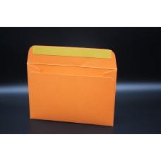 Конверт из дизайнерской бумаги  COLORPLAN мандарин (плотность 350 гр.) формат С6, 10 штук в упаковке.Цена за 1 упаковку.