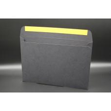Конверт из дизайнерской бумаги PERGRAPHICA infinite black (плотность 300 гр.) формат С5, 10 штук в упаковке.Цена за 1 упаковку.