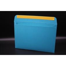 Конверт из дизайнерской бумаги  COCKTAIL бирюзовый металлик (плотность 290 гр.) формат С5, 10 штук в упаковке.Цена за 1 упаковку.