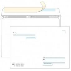 """Конверт почтовый C4 229x324 мм, 90 г/м2, FORPOST, strip, """"кому-куда"""" 50 штук в упаковке, цена за 1 упаковку."""